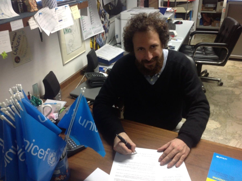 Salvo Pìparo è Testimonial regionale Sicilia per l'UNICEF