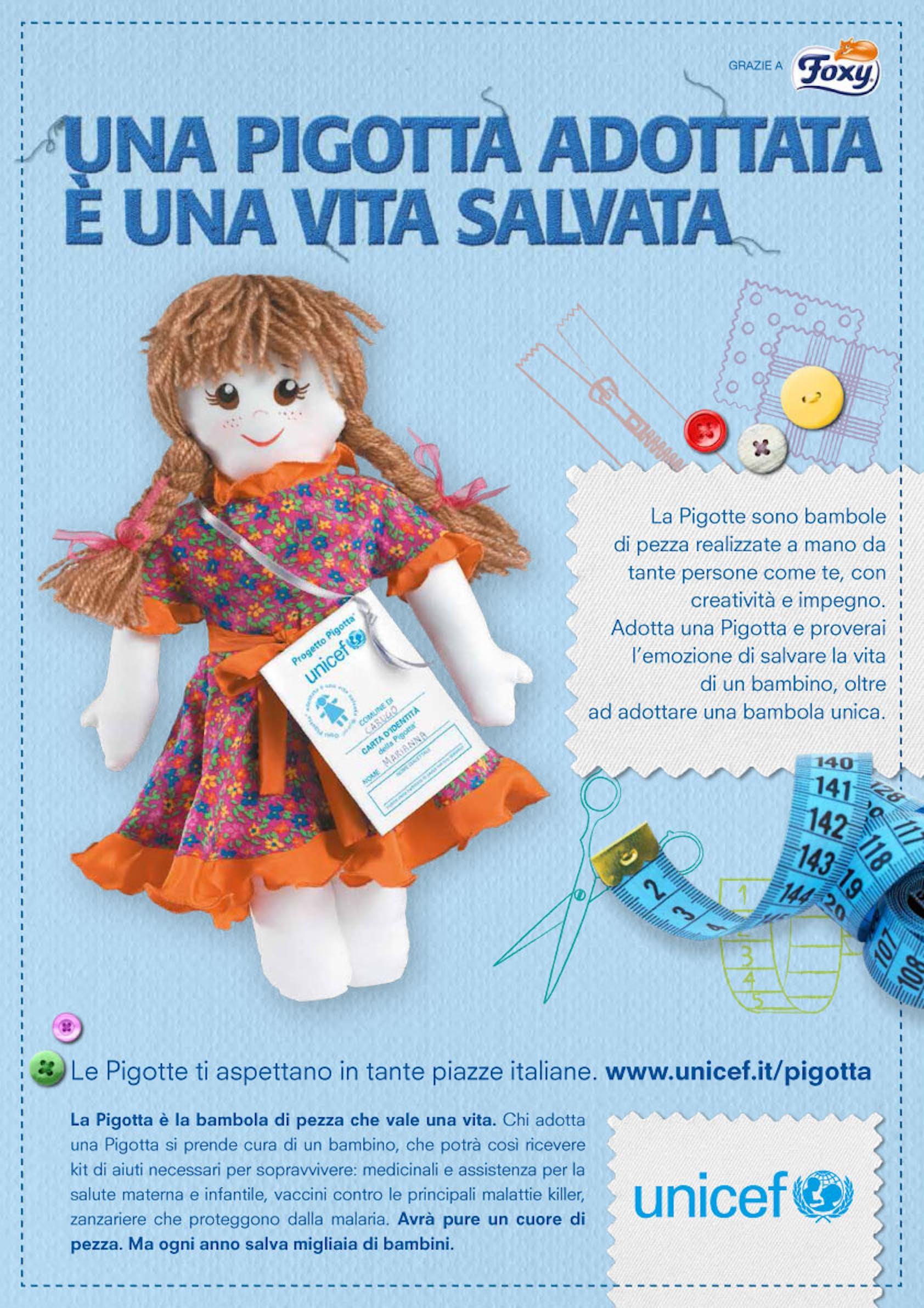 Corso / laboratorio per la realizzazione delle Pigotte UNICEF