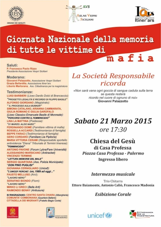 Palermo: anche l'UNICEF ricorda le vittime di mafia