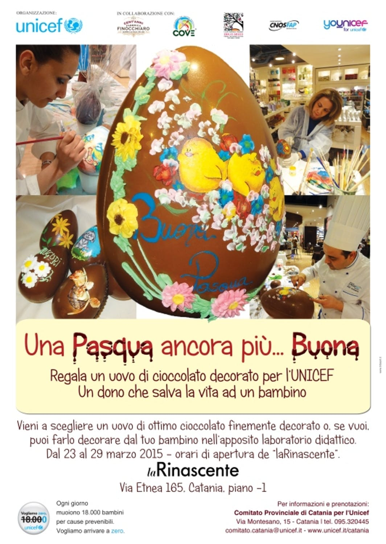 """A Catania l'UNICEF promuove """"Una Pasqua ancora più… Buona"""""""