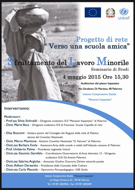 A Palermo un convegno per parlare di bambini lavoratori