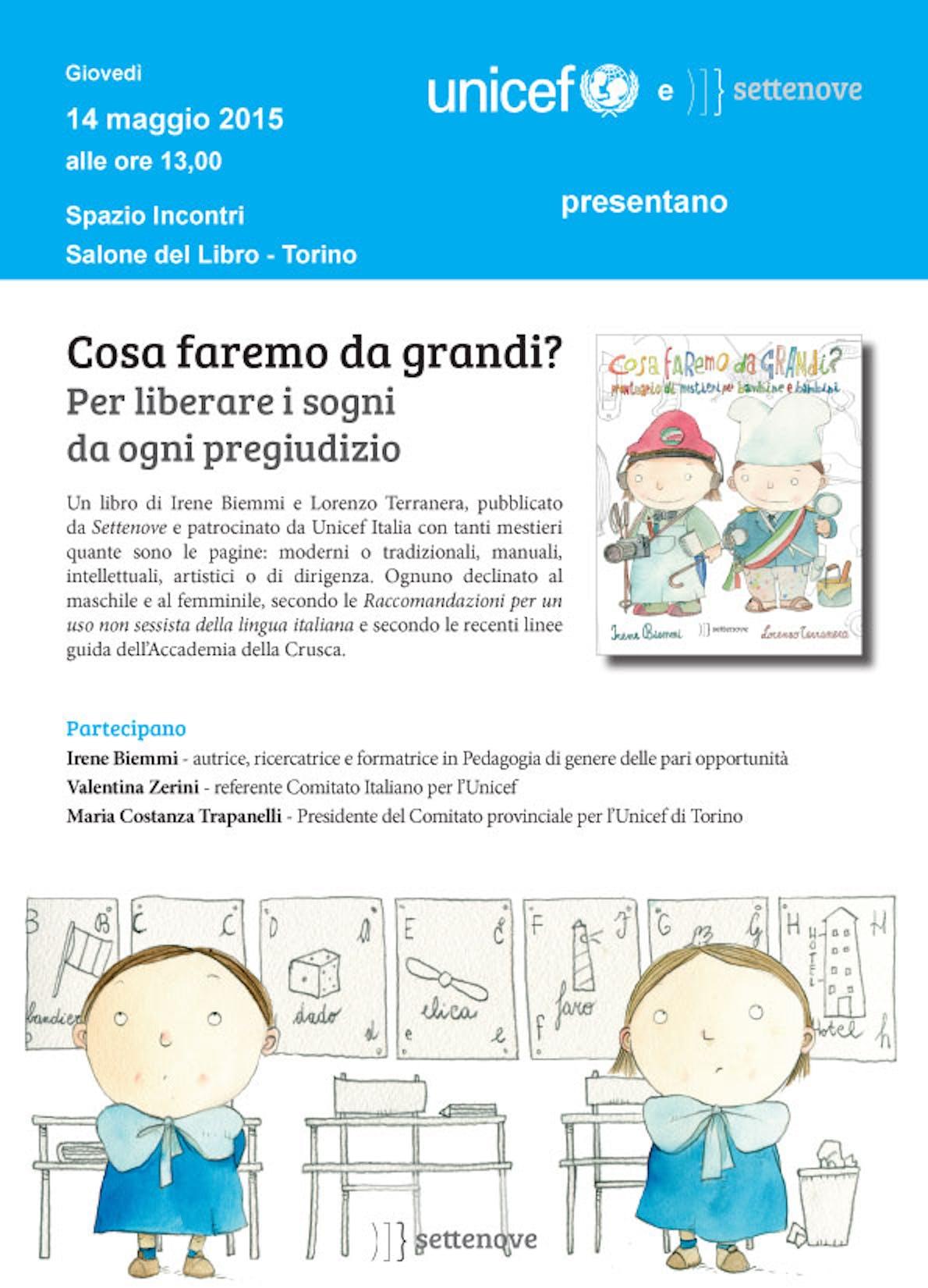 Torino: l'UNICEF al Salone Internazionale del Libro