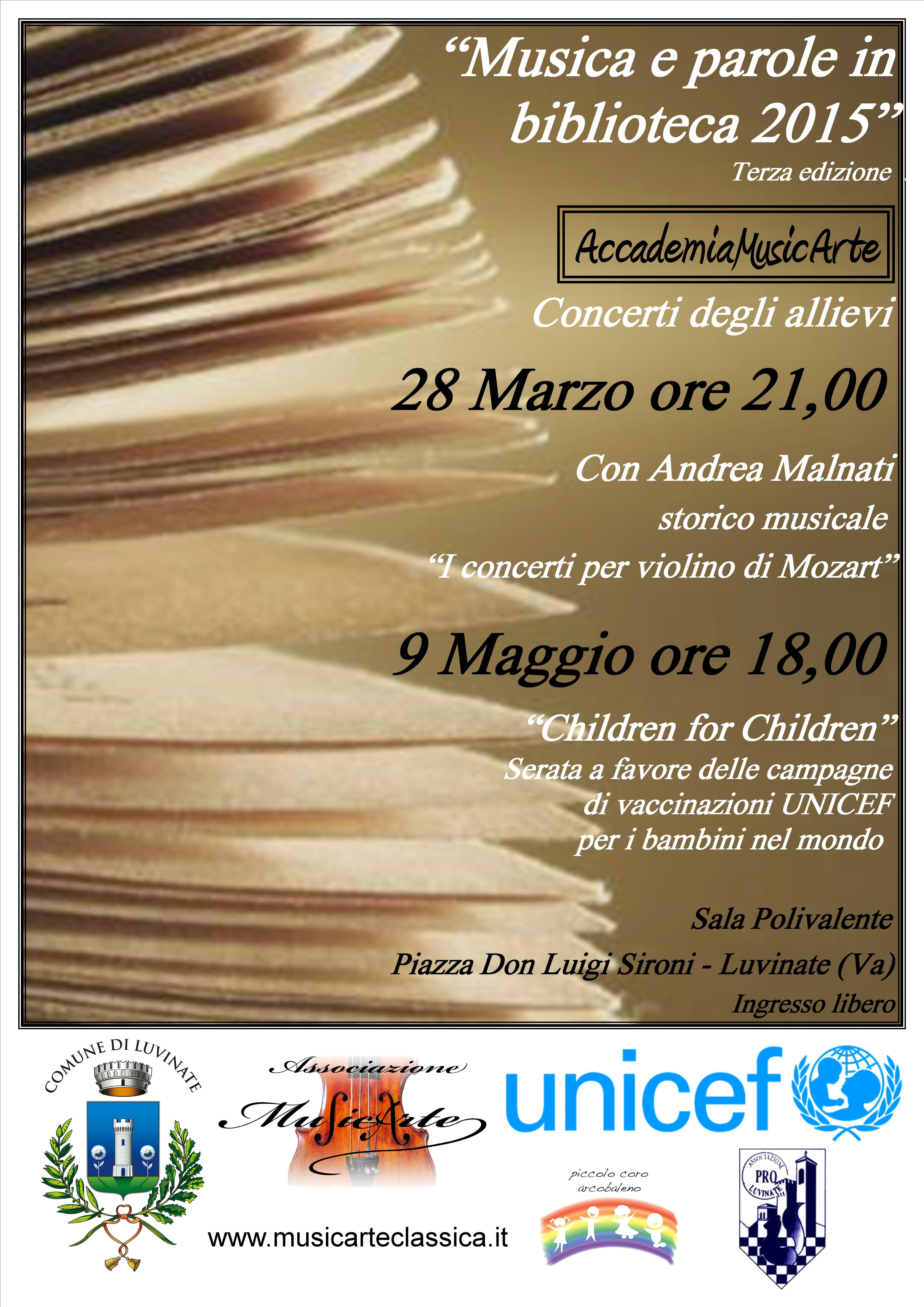 Varese: tutto pronto per il concerto benefico a favore di UNICEF