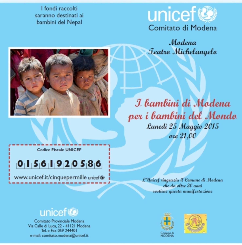 Modena lancia la settimana dei ragazzi UNICEF