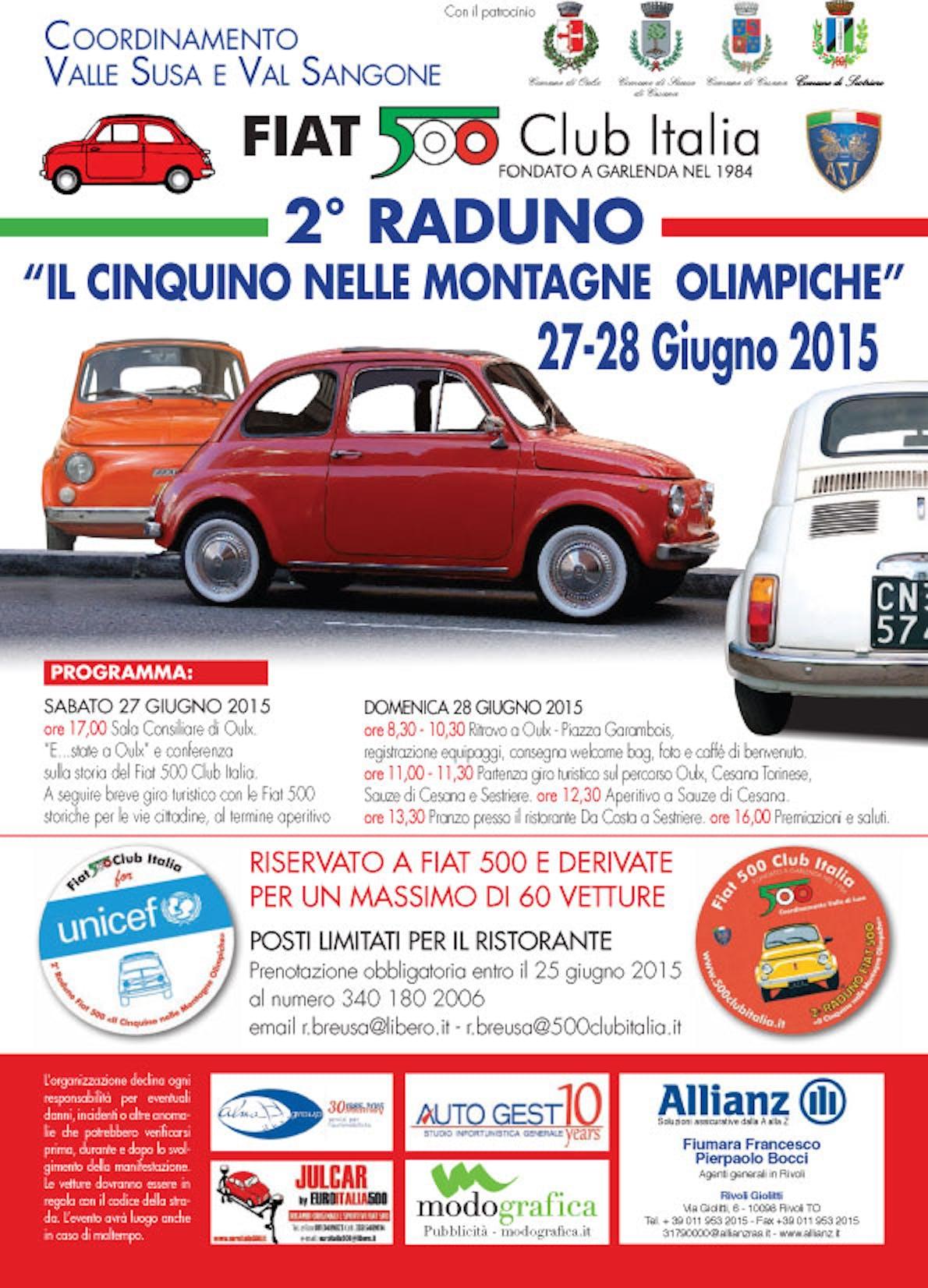 Torino: secondo raduno del FIAT 500 Club Italia con UNICEF