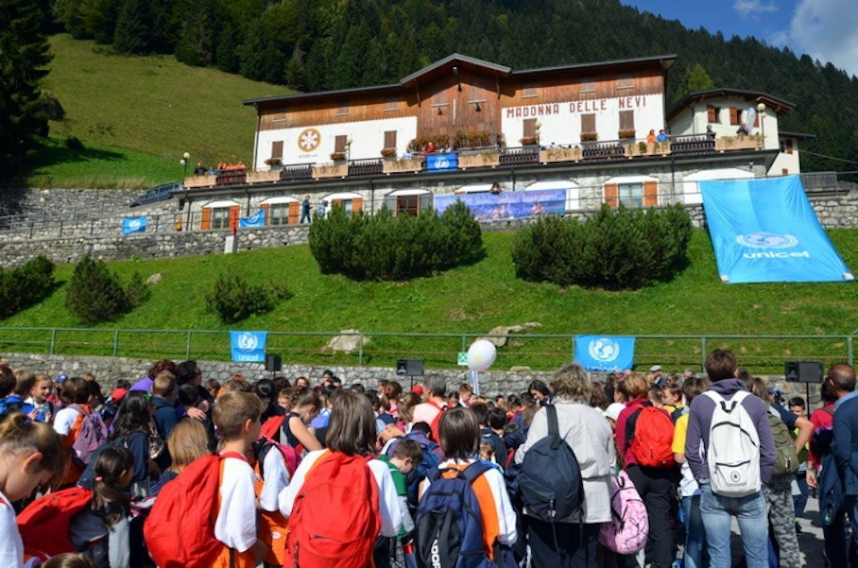 Bergamo: l'UNICEF torna in alta quota