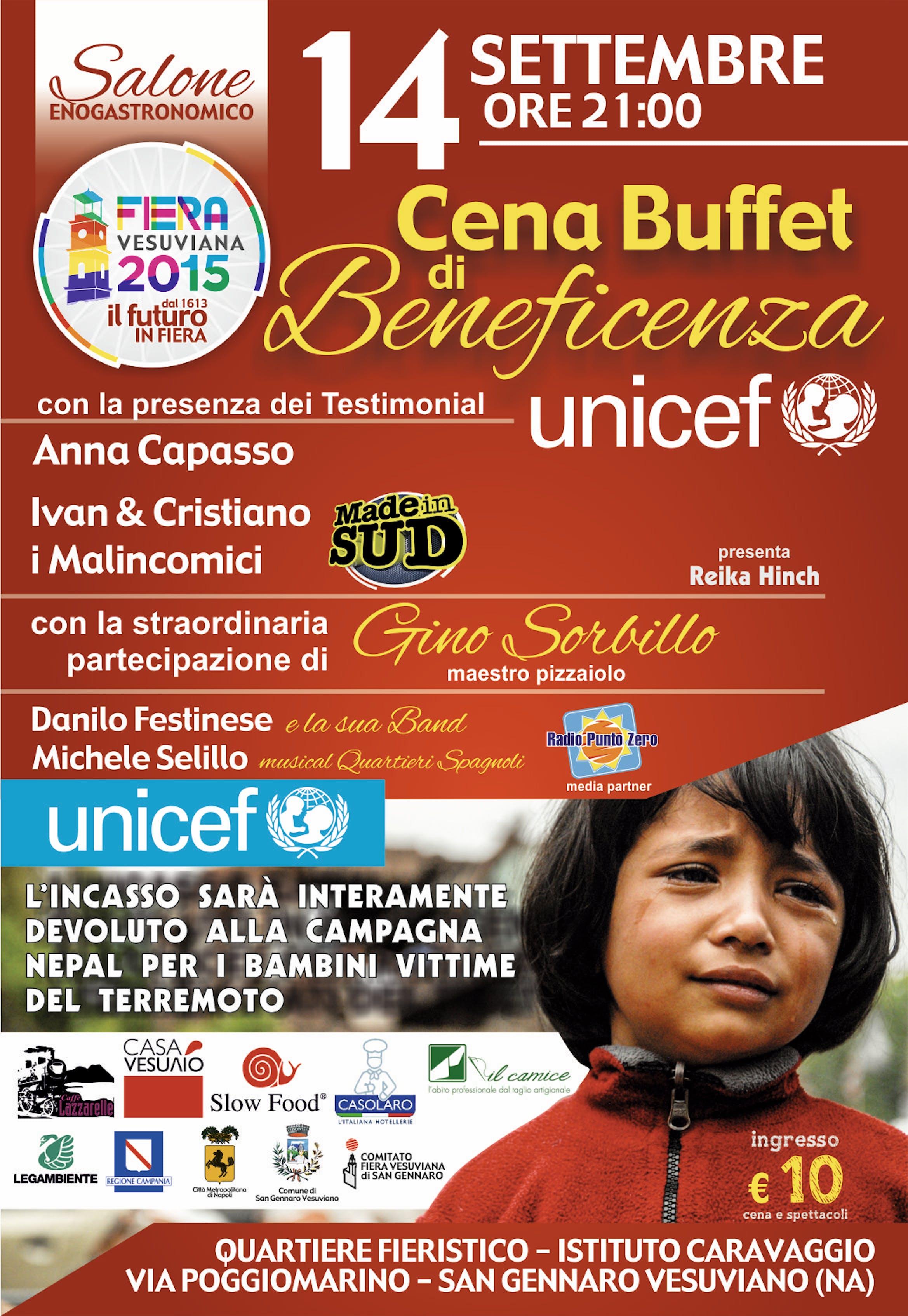 Napoli: un buffet per aiutare i bambini del Nepal