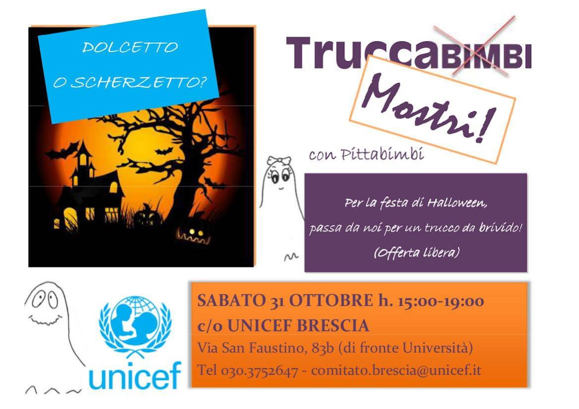 Brescia: tutto pronto per il Dolcetto o Scherzetto targato UNICEF