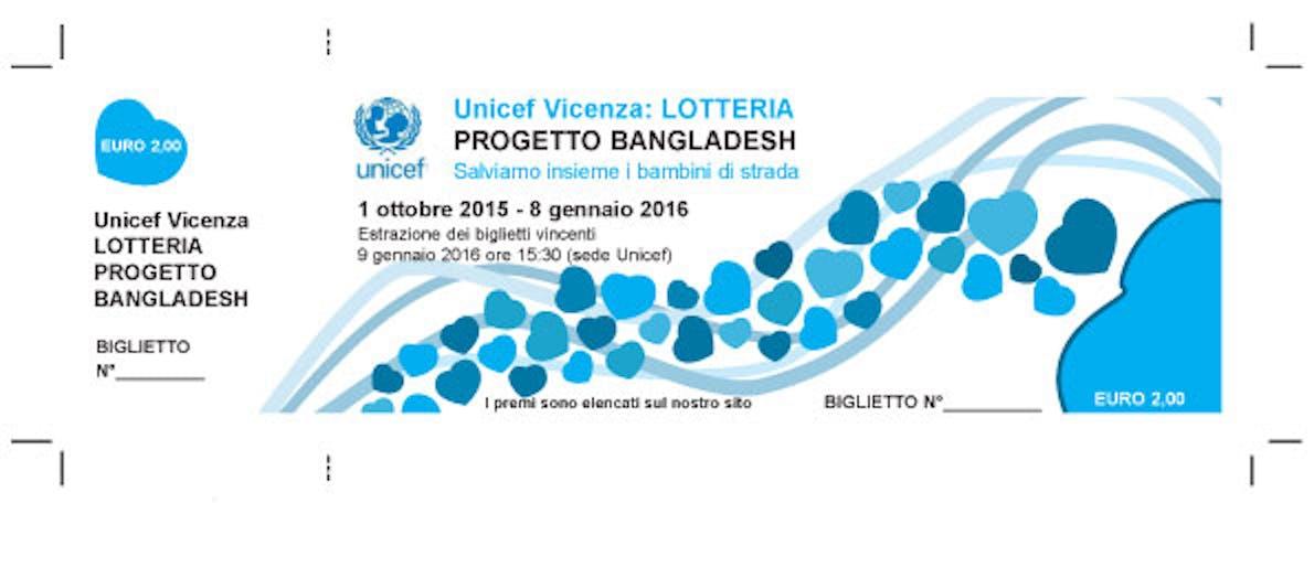 Torna a Vicenza la lotteria per sostenere i bambini del Bangladesh