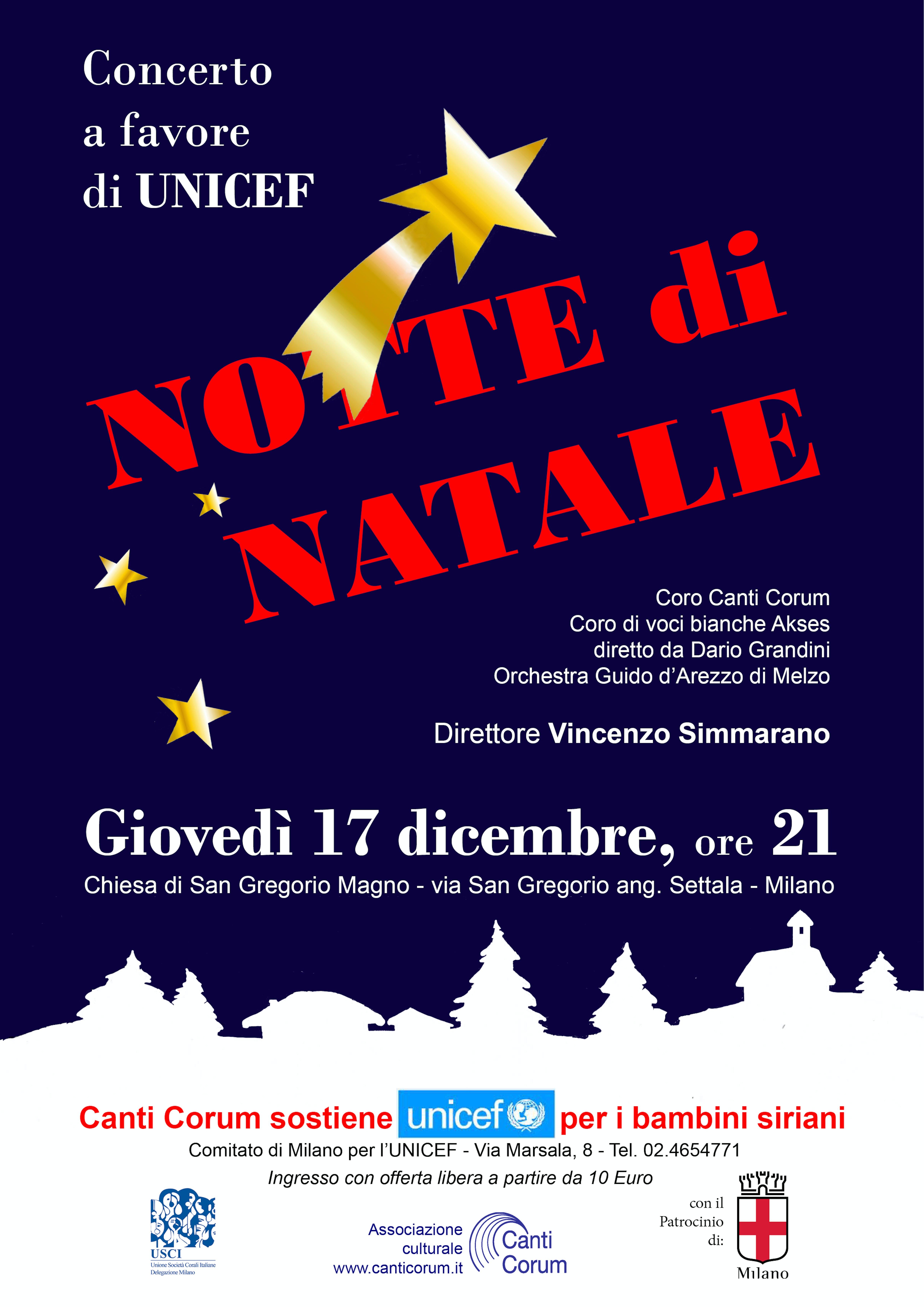 Milano: mancano pochi giorni al concerto di Natale per UNICEF