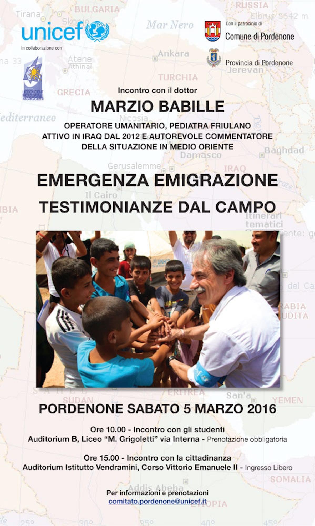 Pordenone incontra l'UNICEF sul campo