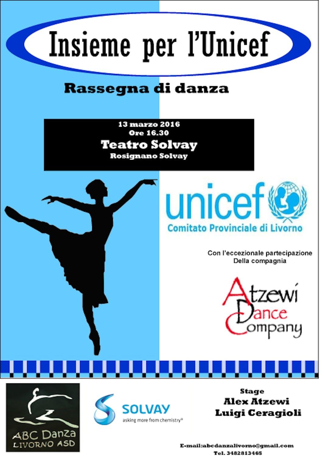 Livorno: rassegna di danza insieme per l'UNICEF