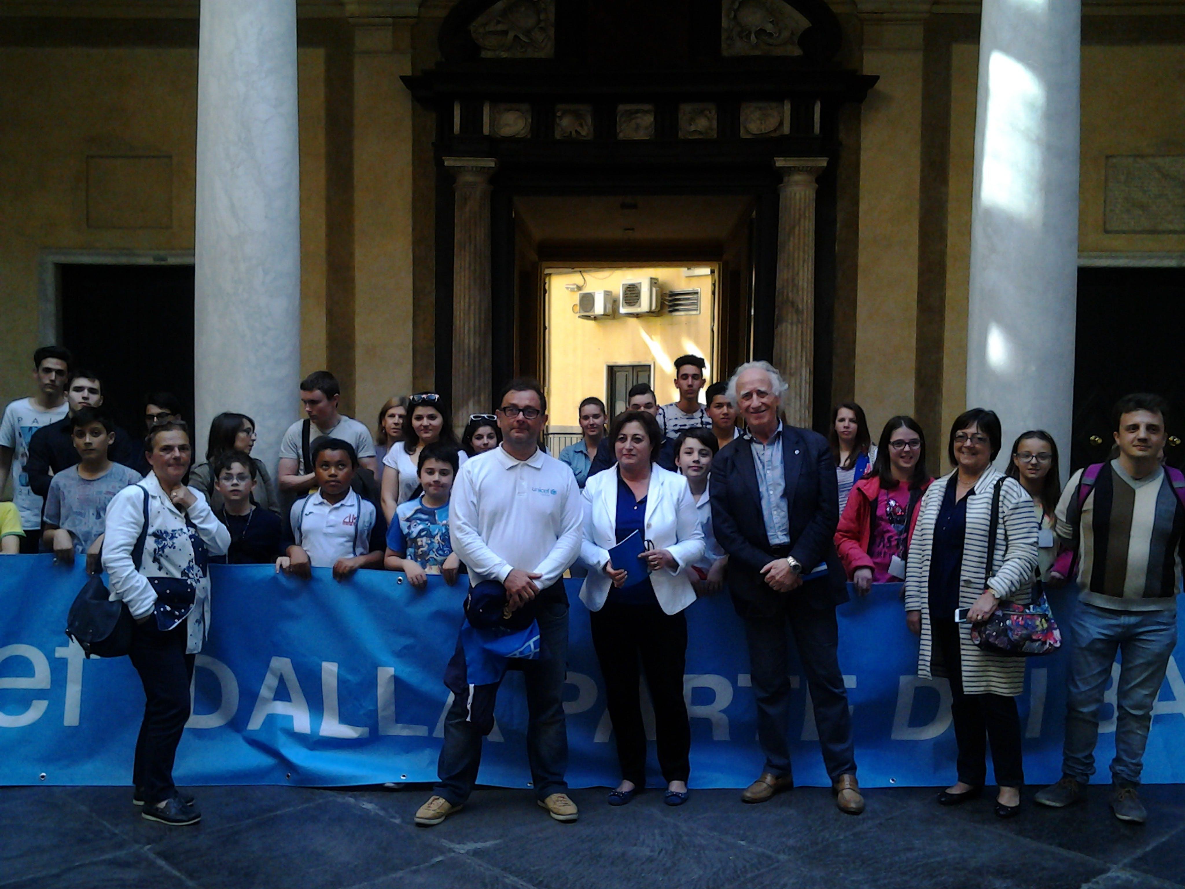 I ragazzi di Genova con l'UNICEF a Palazzo Tursi