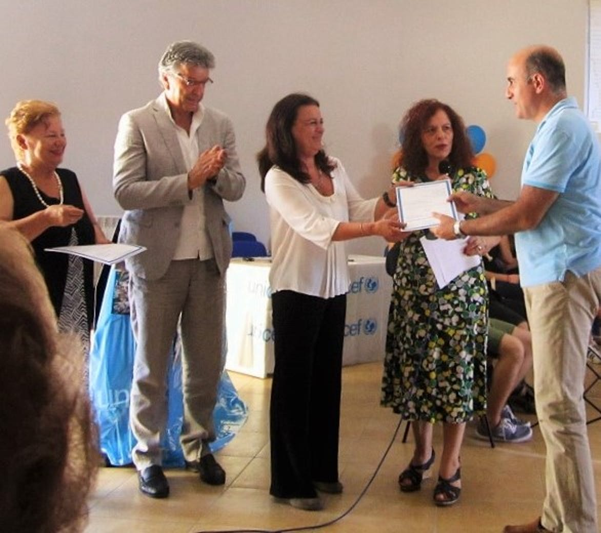 Da sinistra: Carmela Pace, Giuseppe Cappello, Manuela D'Alessandro, Angelica Romano, Salvatore Cantone