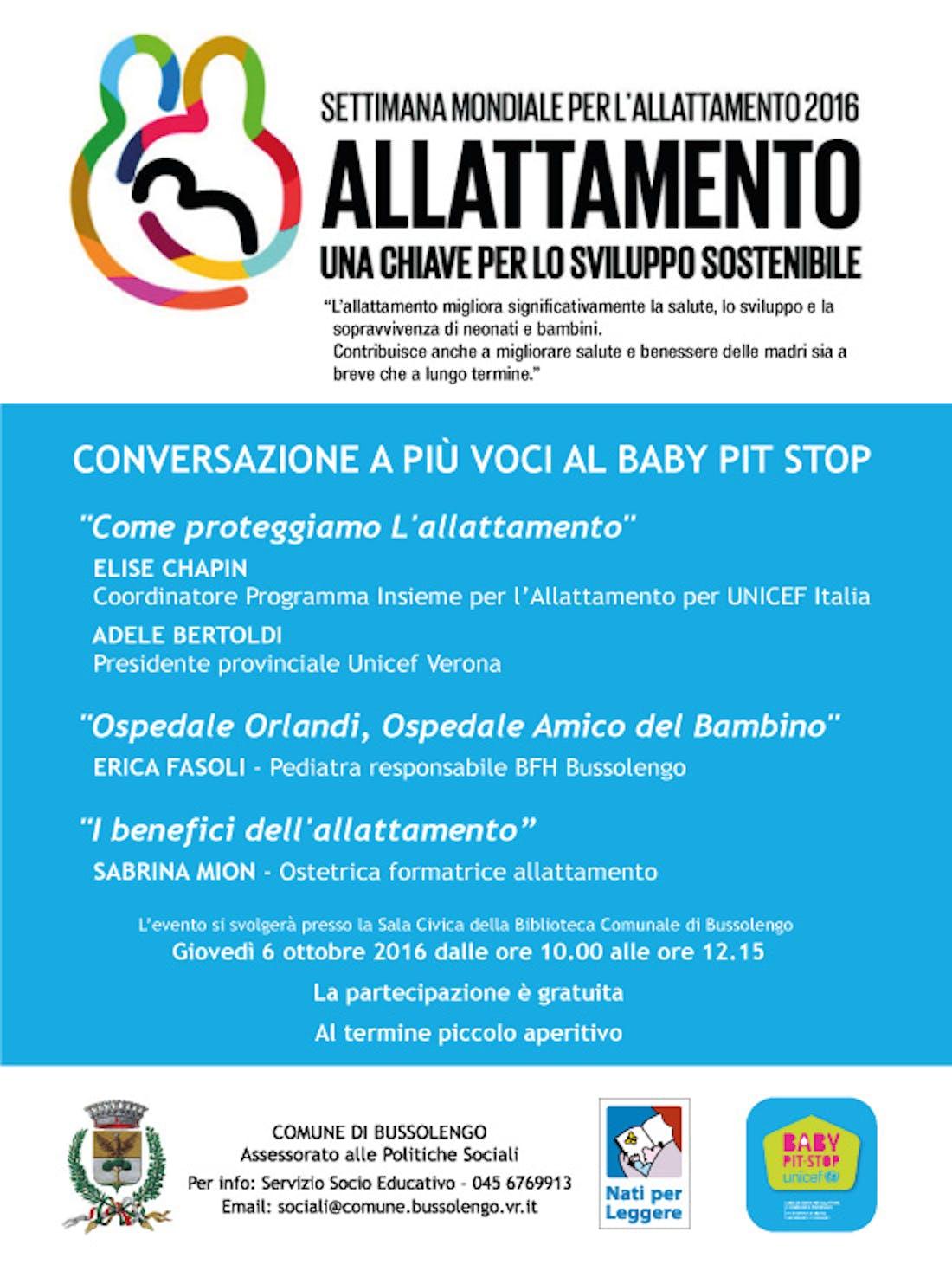 Conversazione a più voci al Baby Pit Stop di Bussolengo