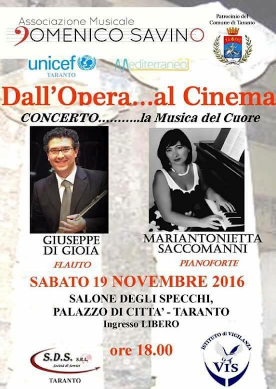 Locandina del concerto del 19 novembre