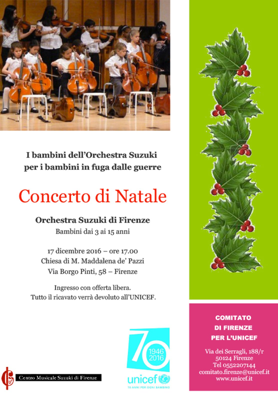 Locandina Concerto Orchestra Suzuki