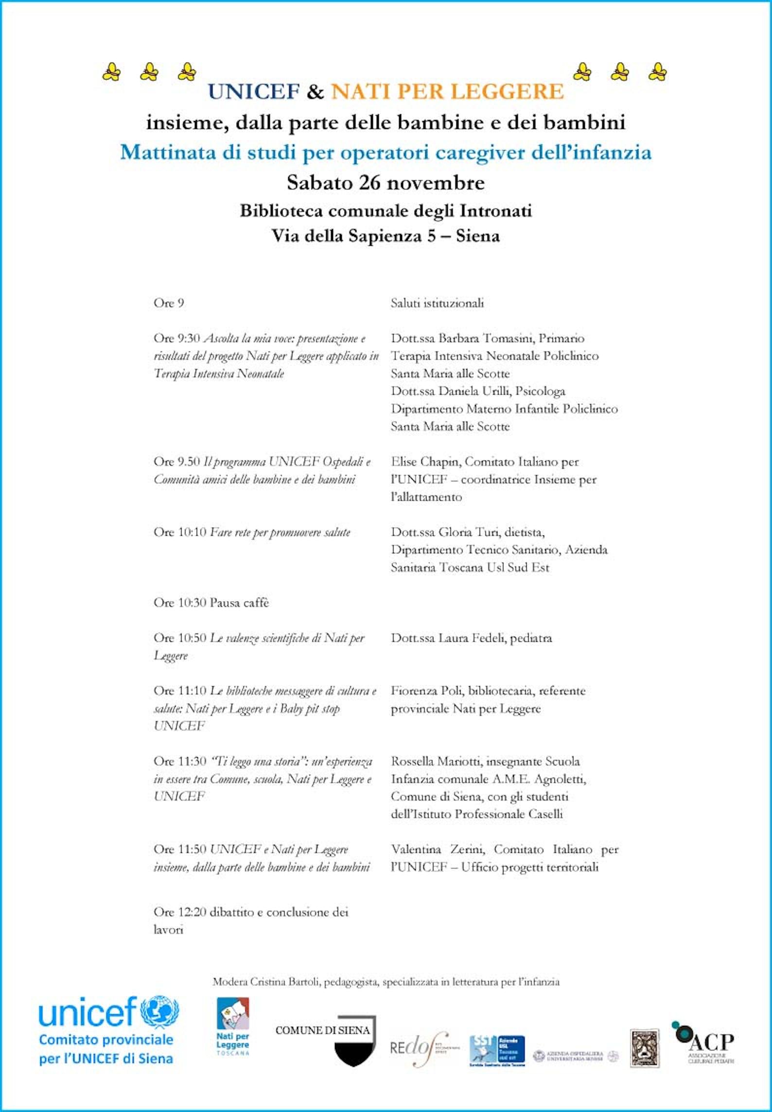 Mattinata di studi per Operatori Caregivers dell'infanzia alla Biblioteca degli Intronati di Siena