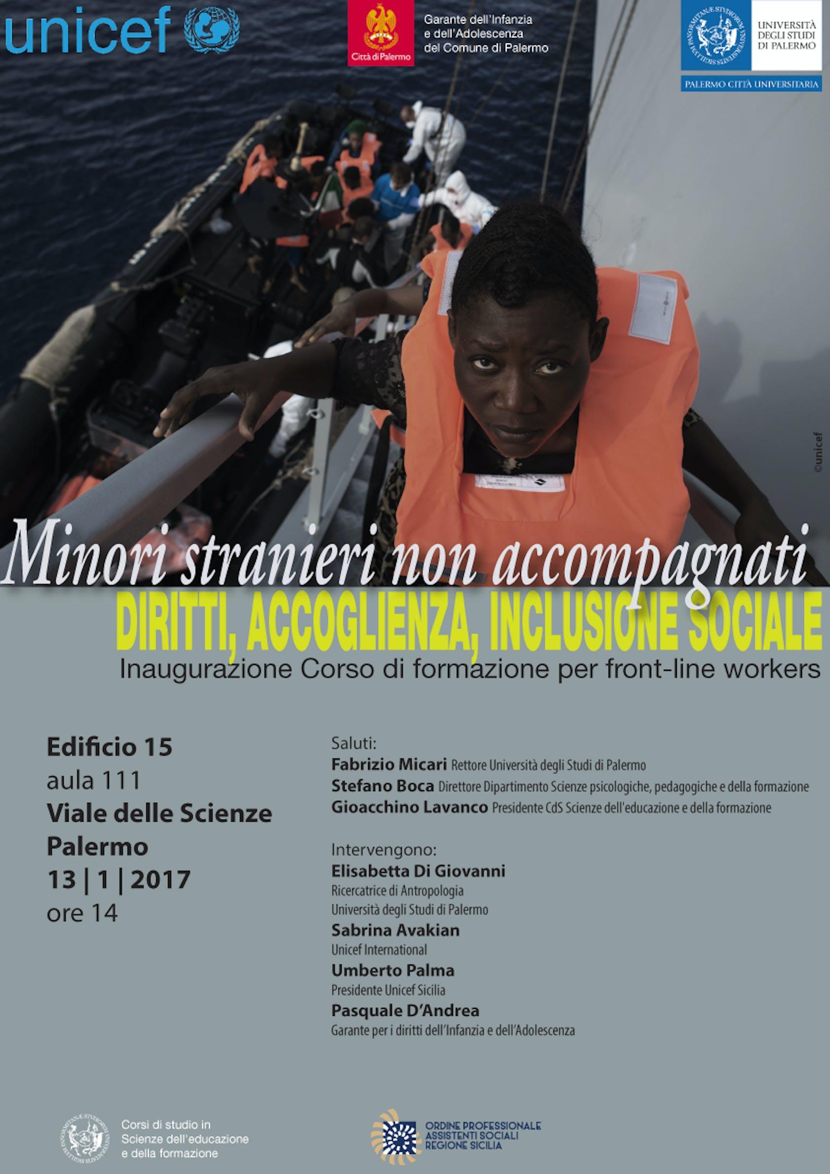 Al via a Palermo il corso su Minori stranieri non accompagnati. Diritti, accoglienza, inclusione sociale