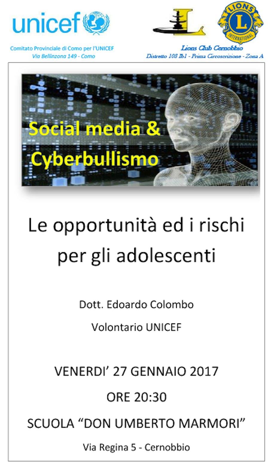 Evento cyberbullismo