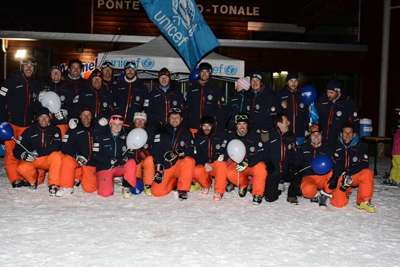 Fiaccolata Pontedilegno ski school e Unicef