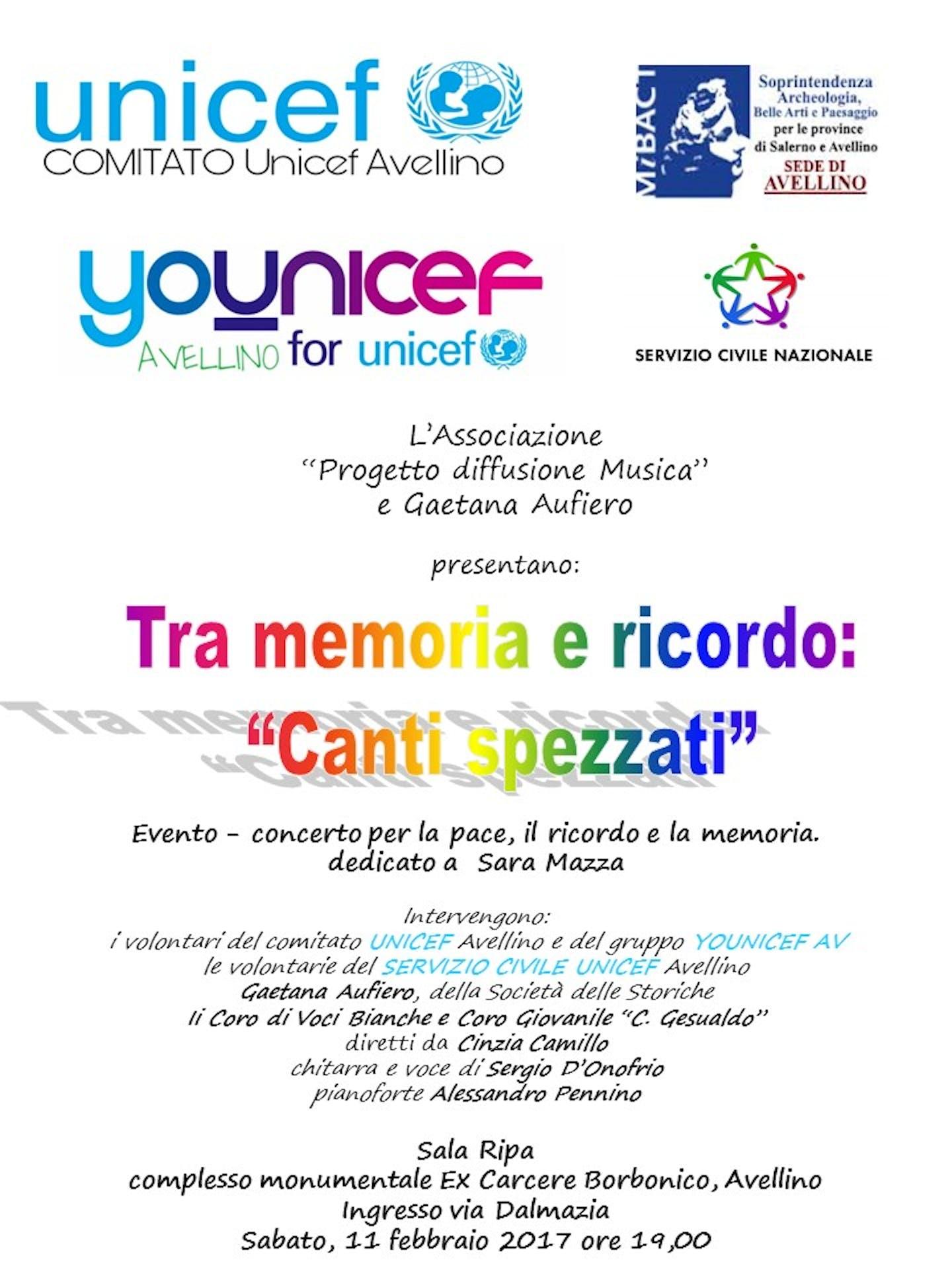Tra memoria e ricordo: canti spezzati - Evento concerto per la pace al Complesso monumentale ex Carcere borbonico di Avellino
