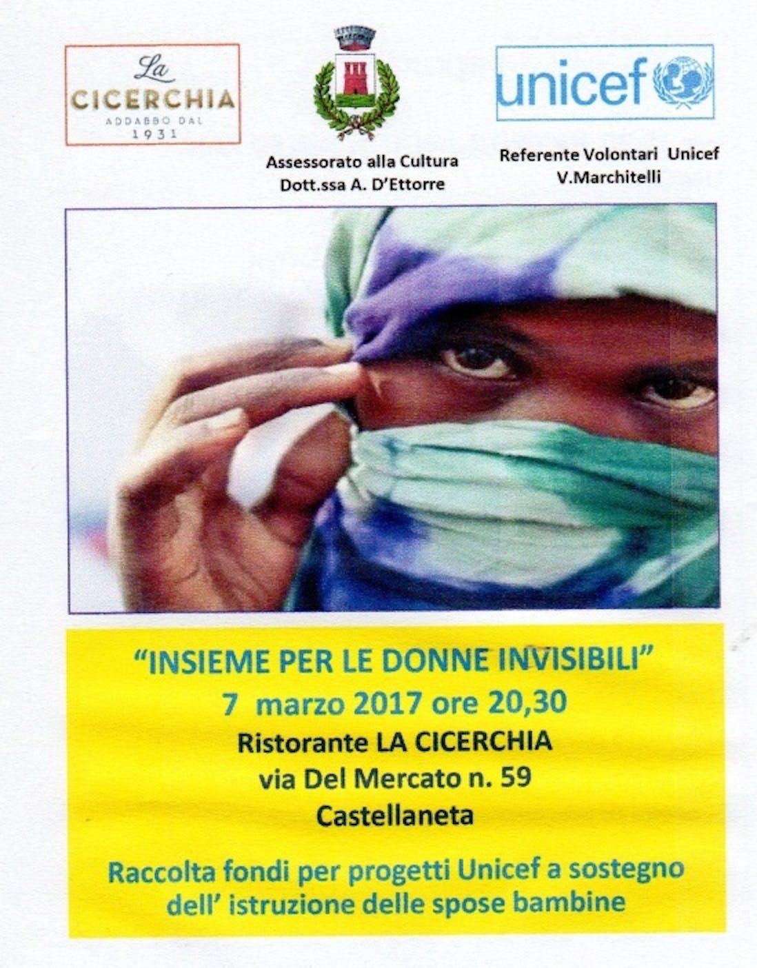 Insieme per le donne invisibili. Il 7 marzo alle 20.30 una serata di raccolta fondi a Castellaneta