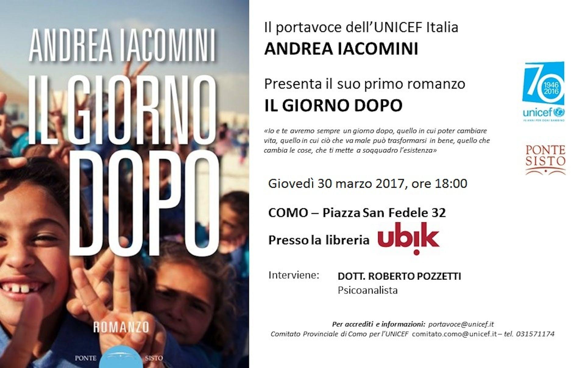 A Como, il 30 marzo, la presentazione del libro