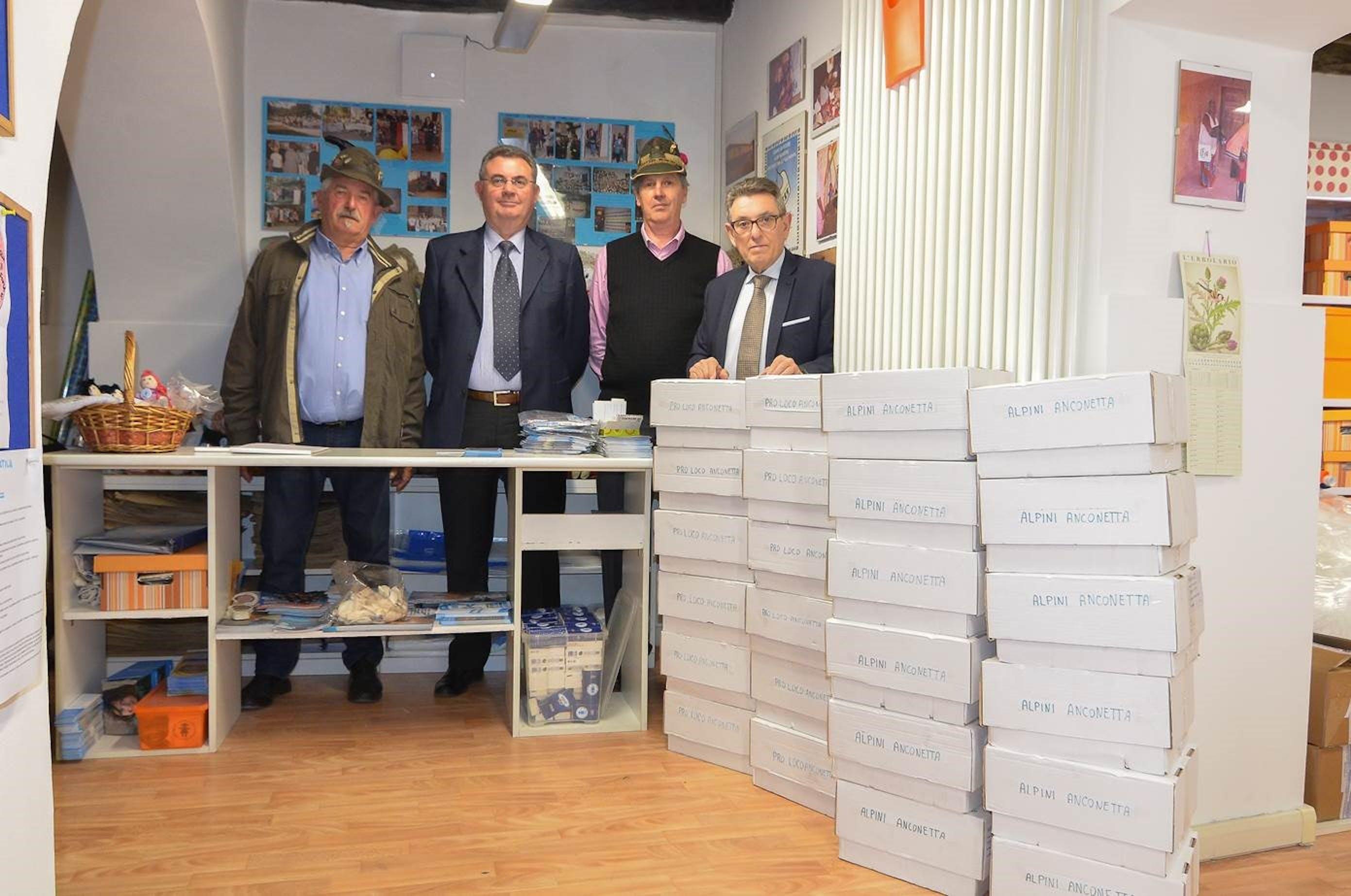 Il Comitato UNICEF di Vicenza, con gli alpini di Anconetta e la Proloco Postumia per i bambini di Amandola