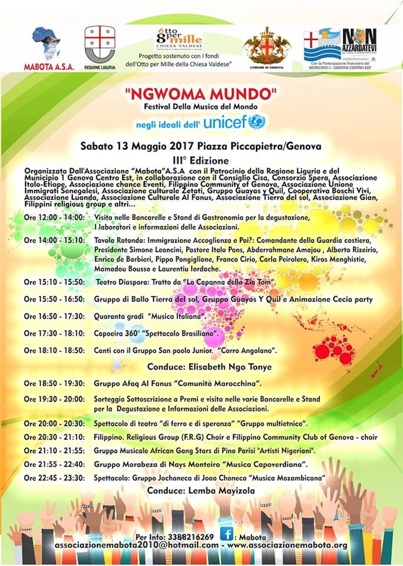 A Genova il 3° Festival della Musica NGWOMA MUNDO