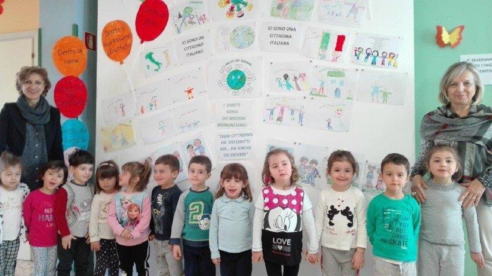 """Il comitato provinciale di Potenza per l'UNICEF nella Scuola dell'Infanzia """"Arcobaleno"""" di Muro Lucano"""