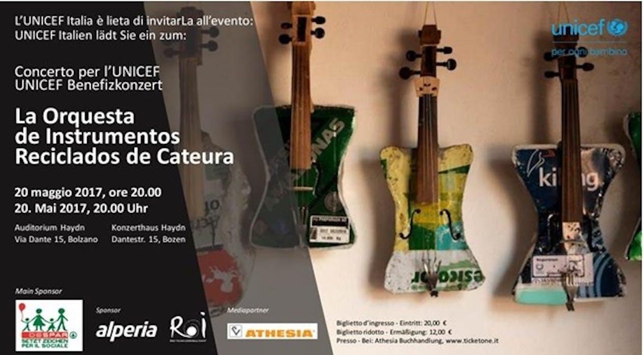 Una serata di musica per UNICEF a Bolzano