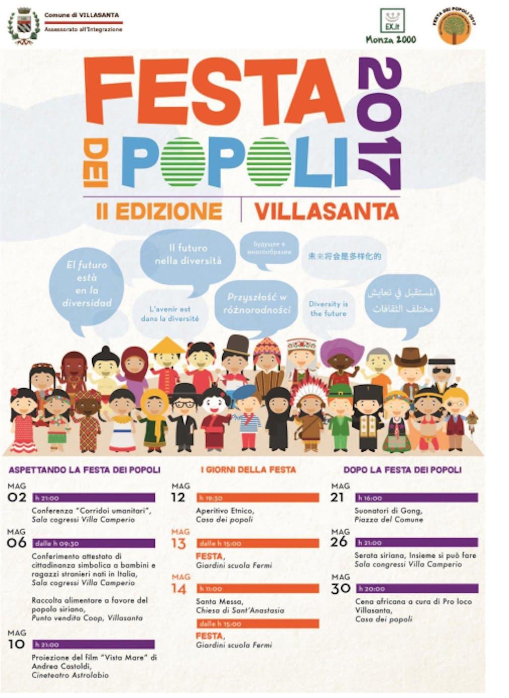 A Villasanta inizia la seconda edizione della Festa dei Popoli