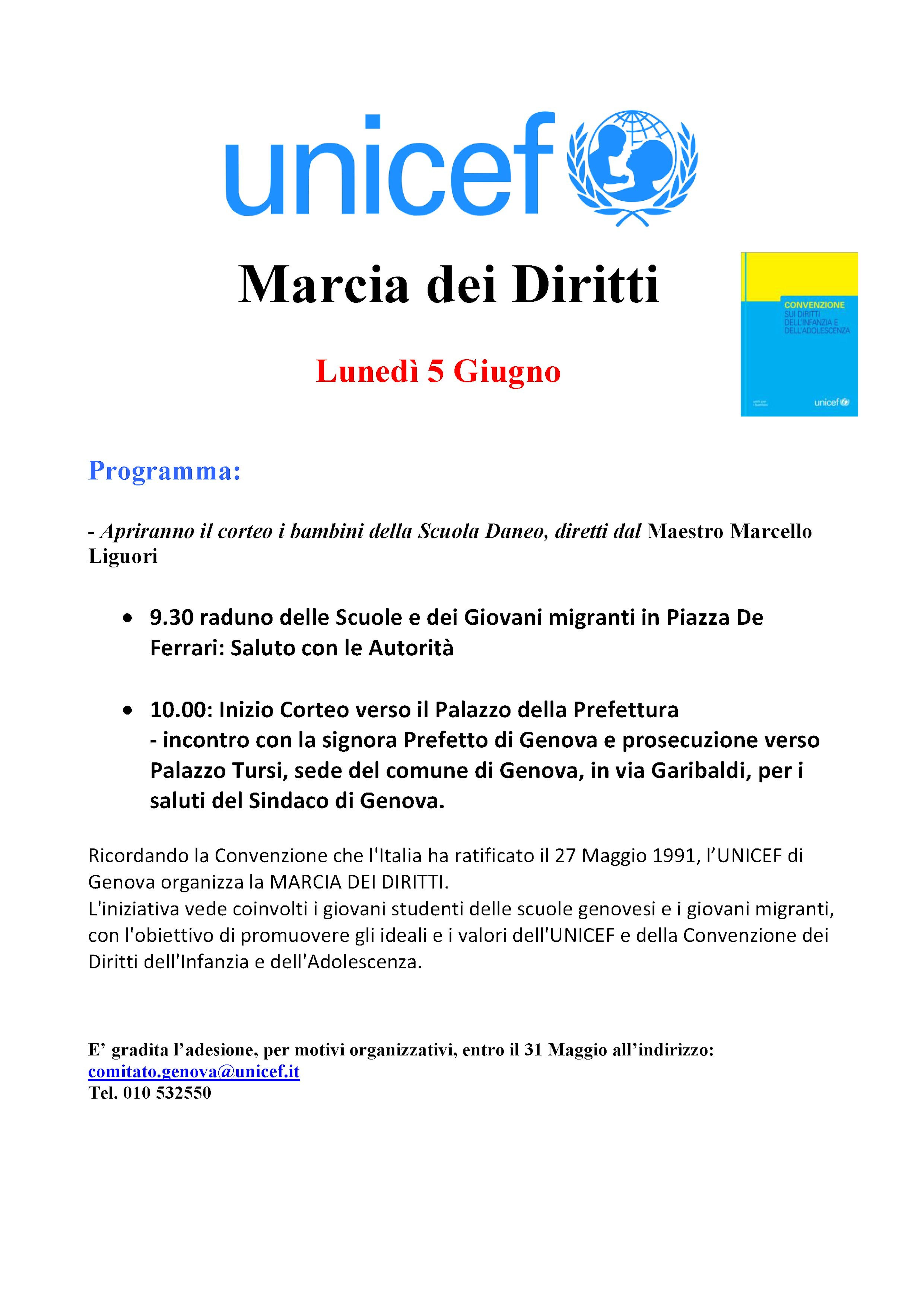 A Genova, il 5 giugno, vi aspettiamo alla Marcia dei Diritti