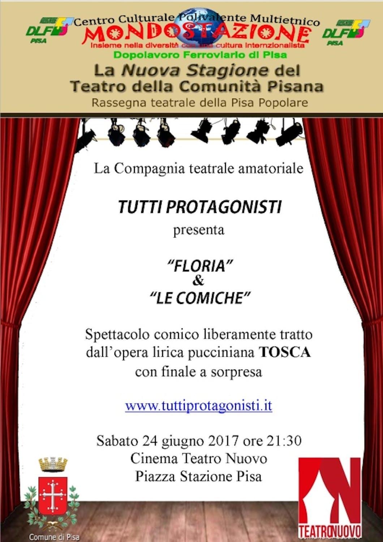 """Locandina dello spettacolo """"Floria & le Comiche"""""""