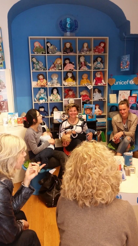 A Bergamo grande attenzione per i Baby Pit Stop dell'UNICEF