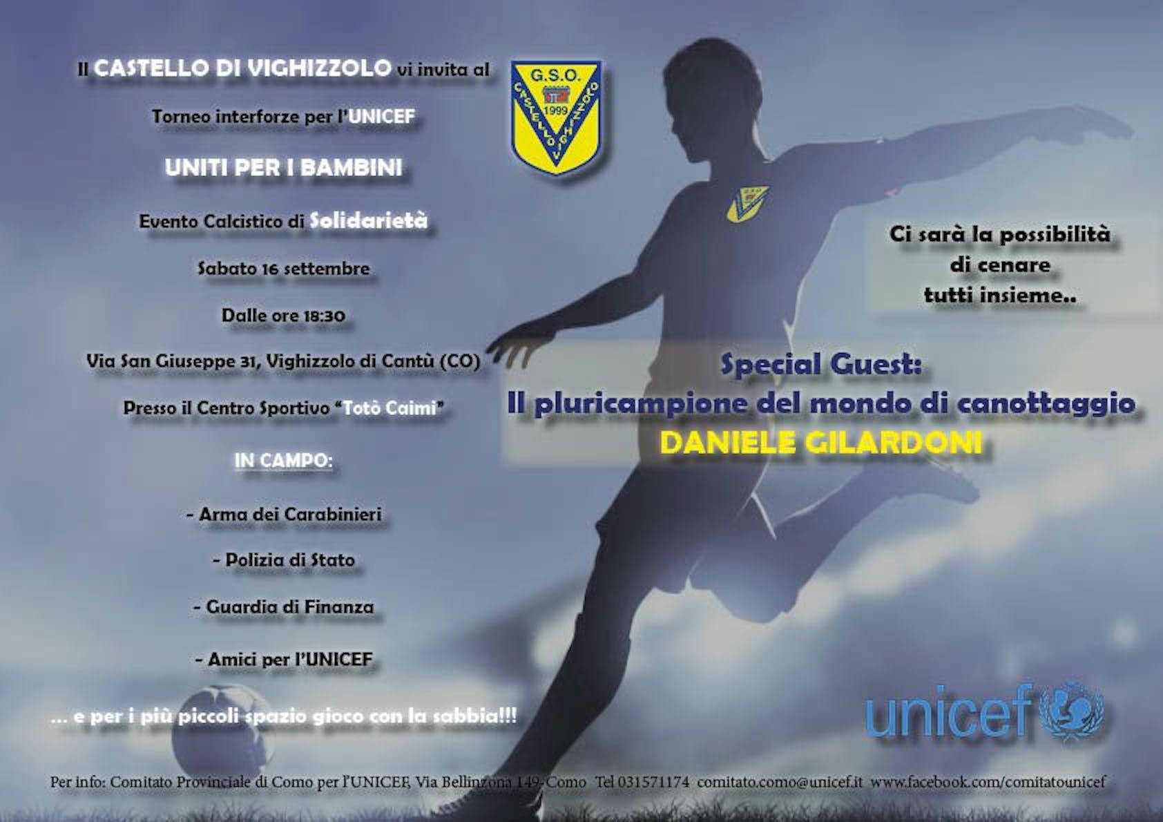 A Vighizzolo il Torneo Interforze per l'UNICEF
