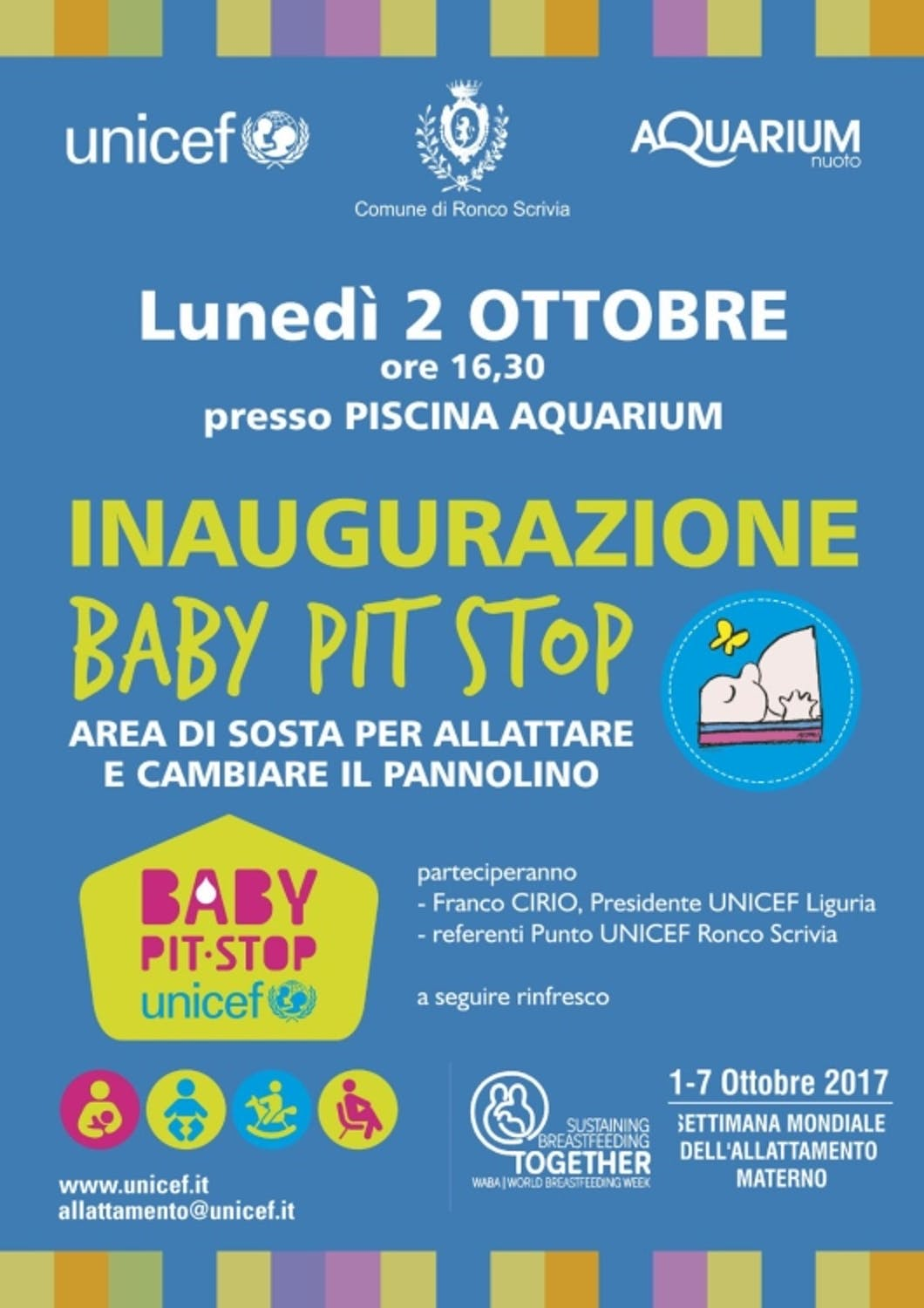 Baby Pit Stop alla piscina comunale