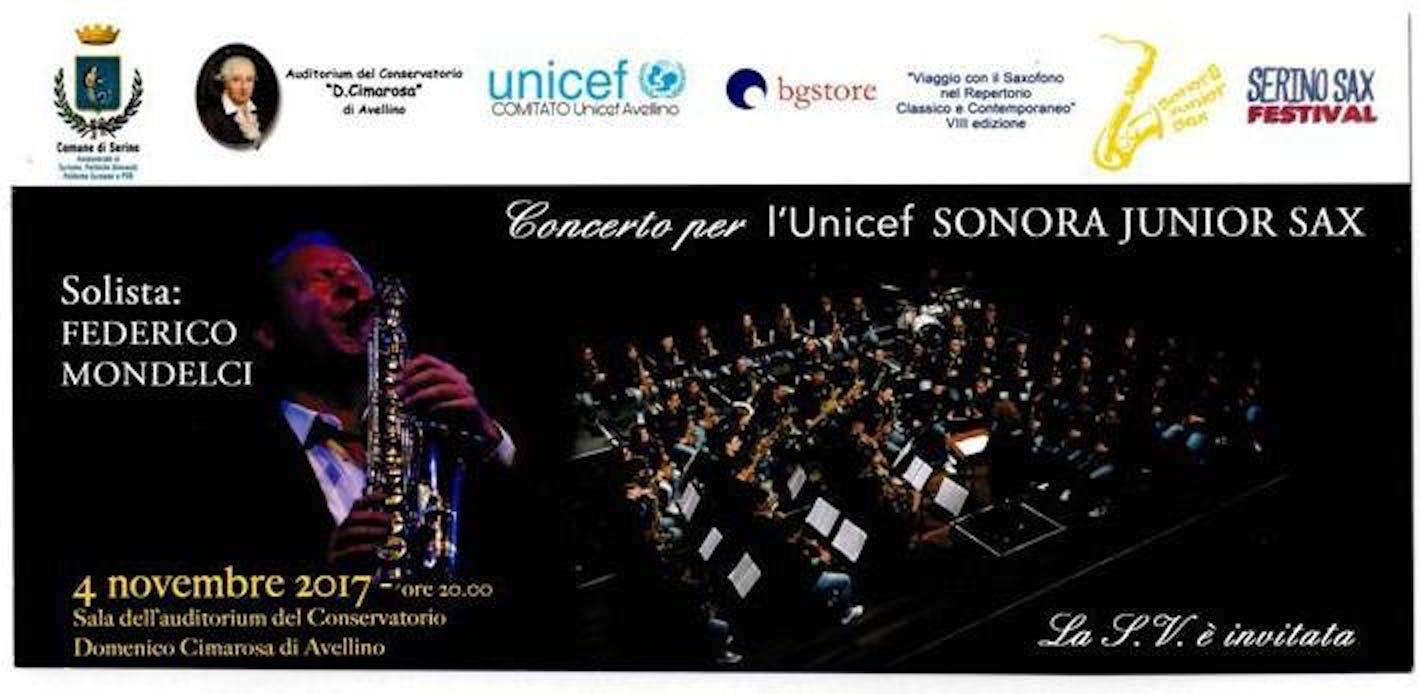 Ad Avellino un concerto di beneficenza per l'UNICEF