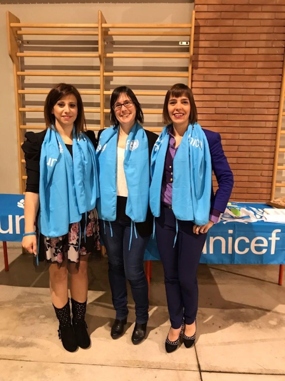 Immagini delle volontarie di Bergamo