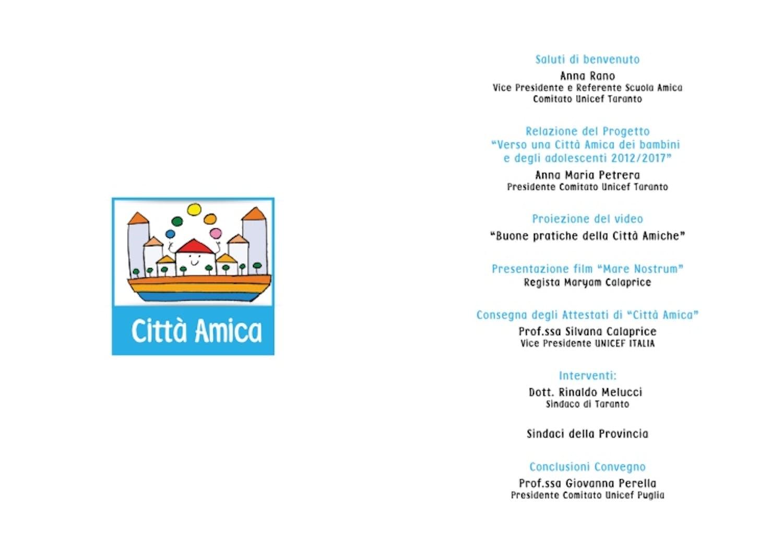 Il 17 novembre un Convegno a Taranto per parlare dei diritti dei più piccoli