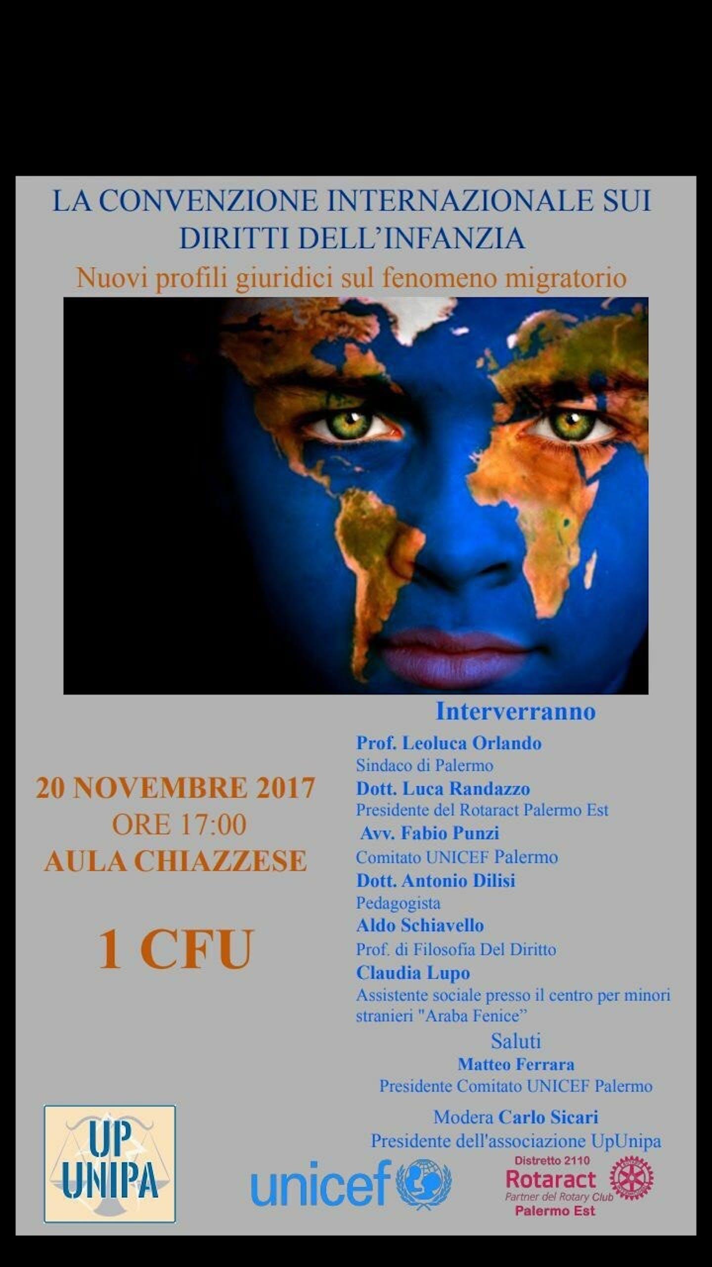 Il 20 novembre un Convegno sui diritti dell'infanzia a Palermo
