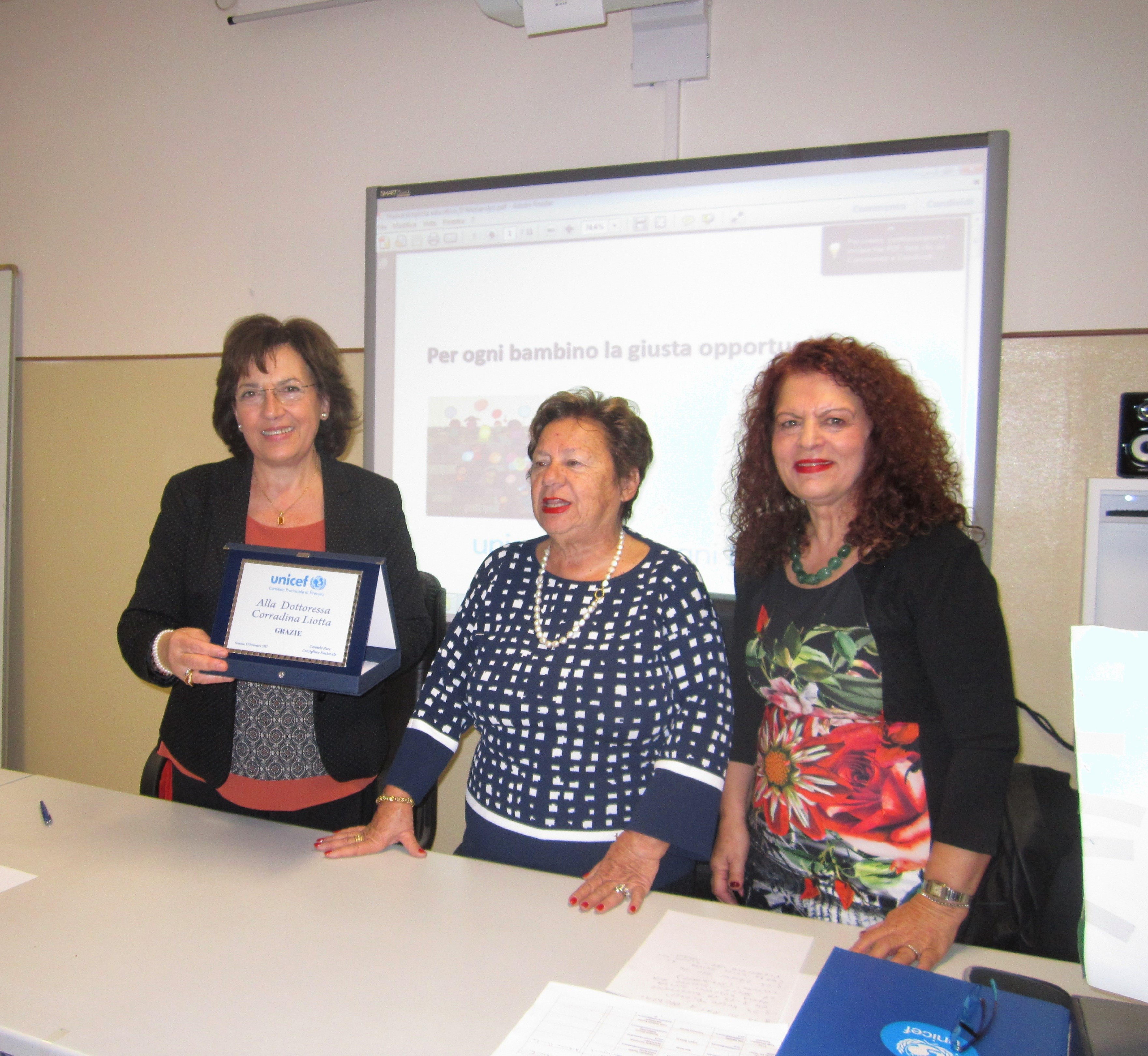 Corradina Liotta, Carmela Pace e Angelica Romano