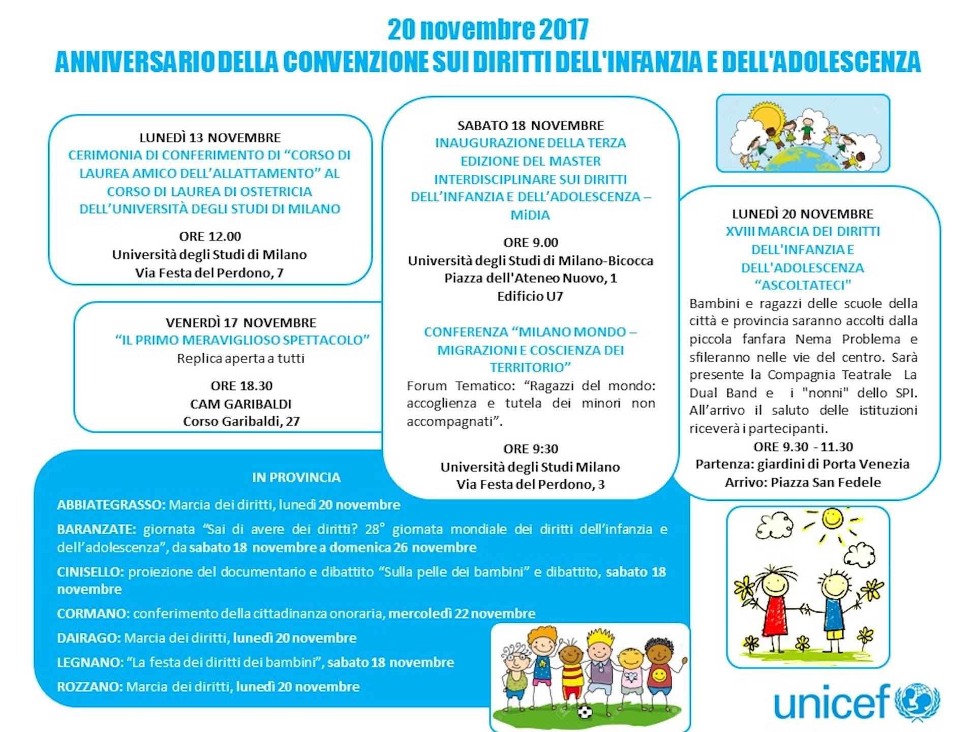 Scopri gli eventi per la Giornata Mondiale dell'Infanzia a Milano