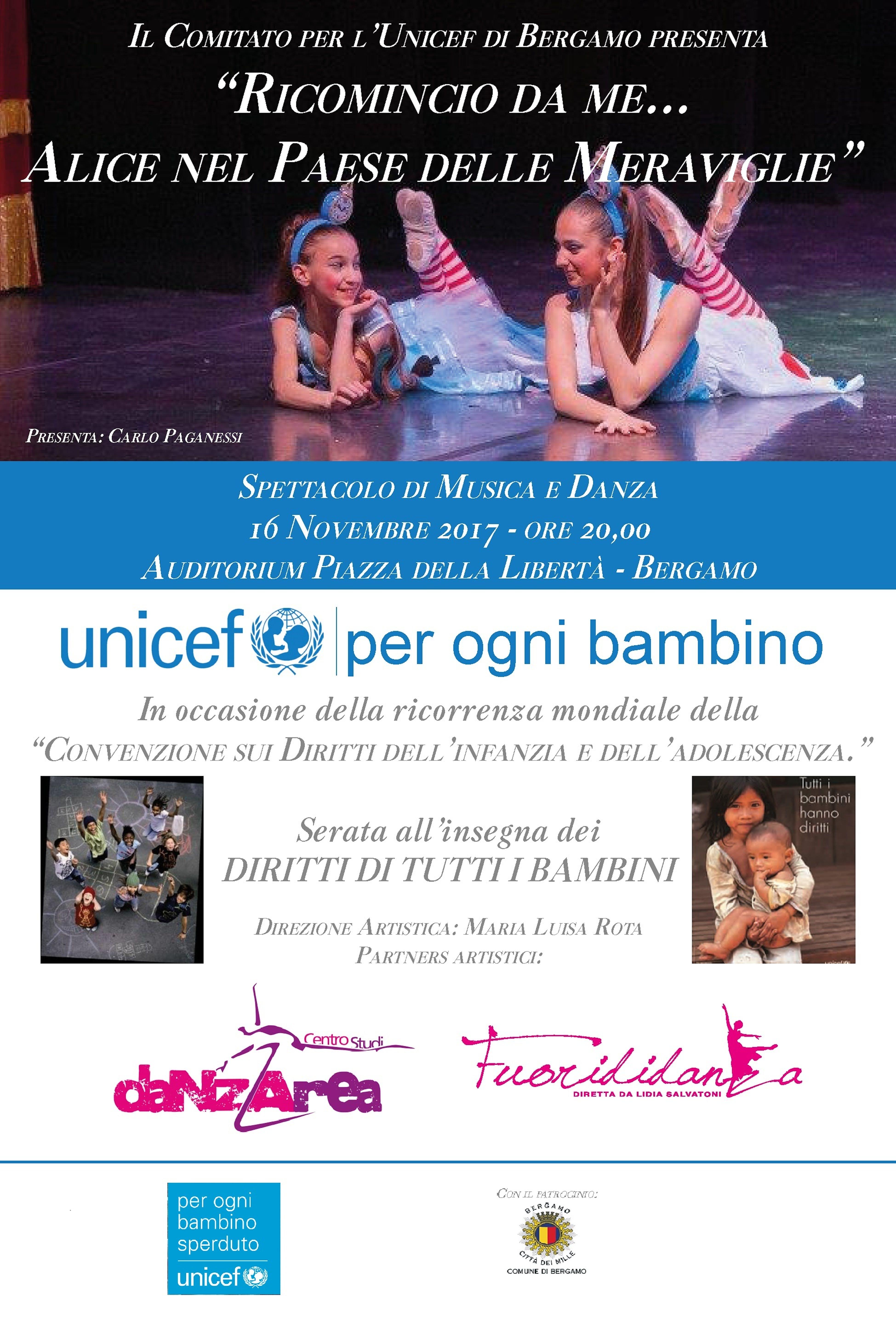 Bergamo: incontro sui diritti dei bambini e spettacolo di musica e danza