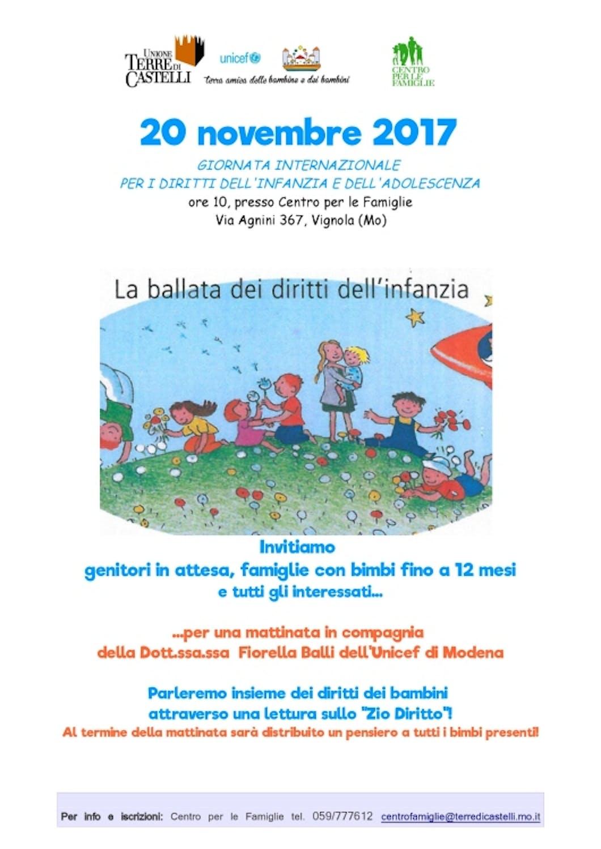 A Modena per la Giornata Mondiale dell'Infanzia