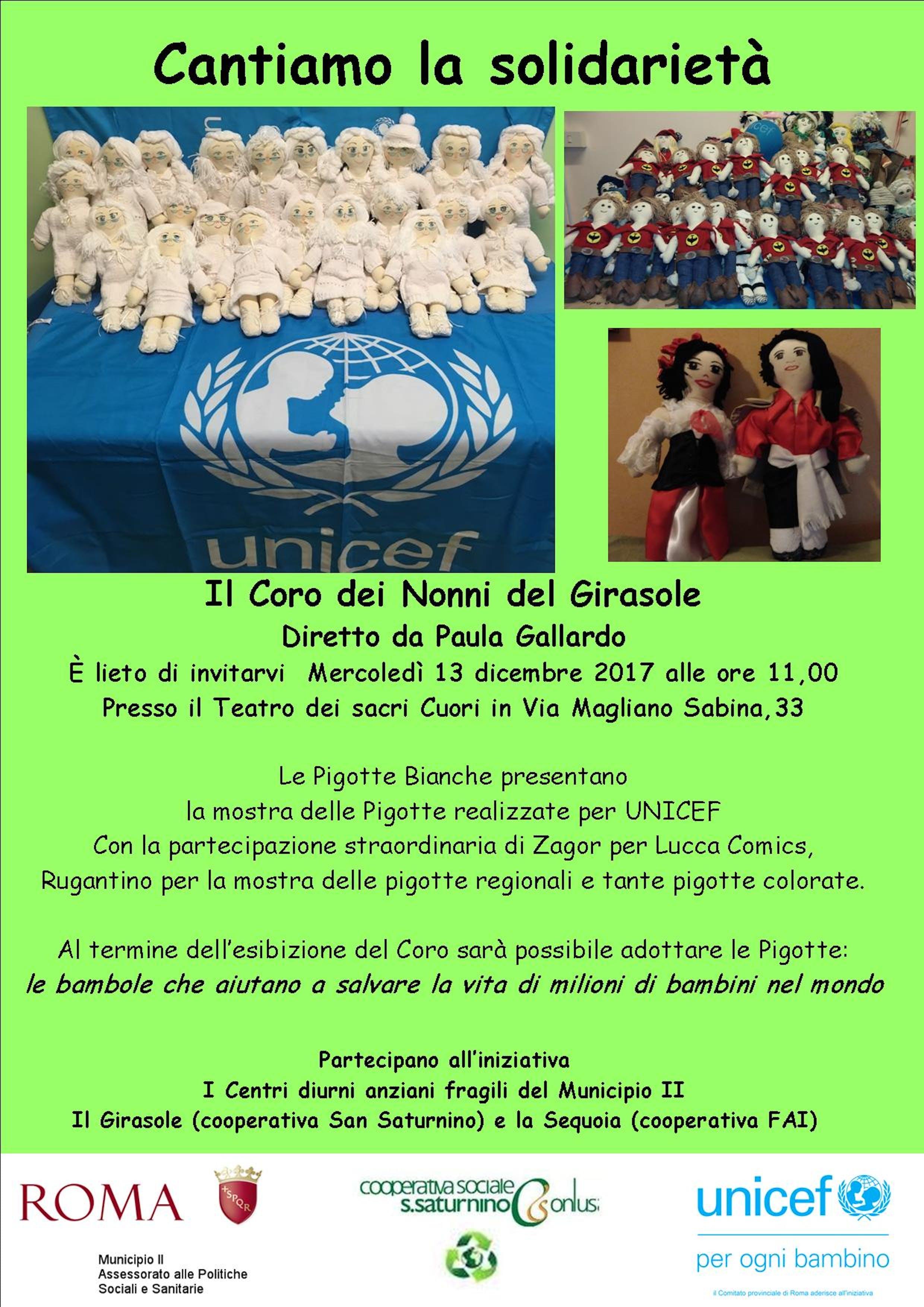 Concerto dei nonni e mostra di Pigotte grazie al Centro Il Girasole di Roma