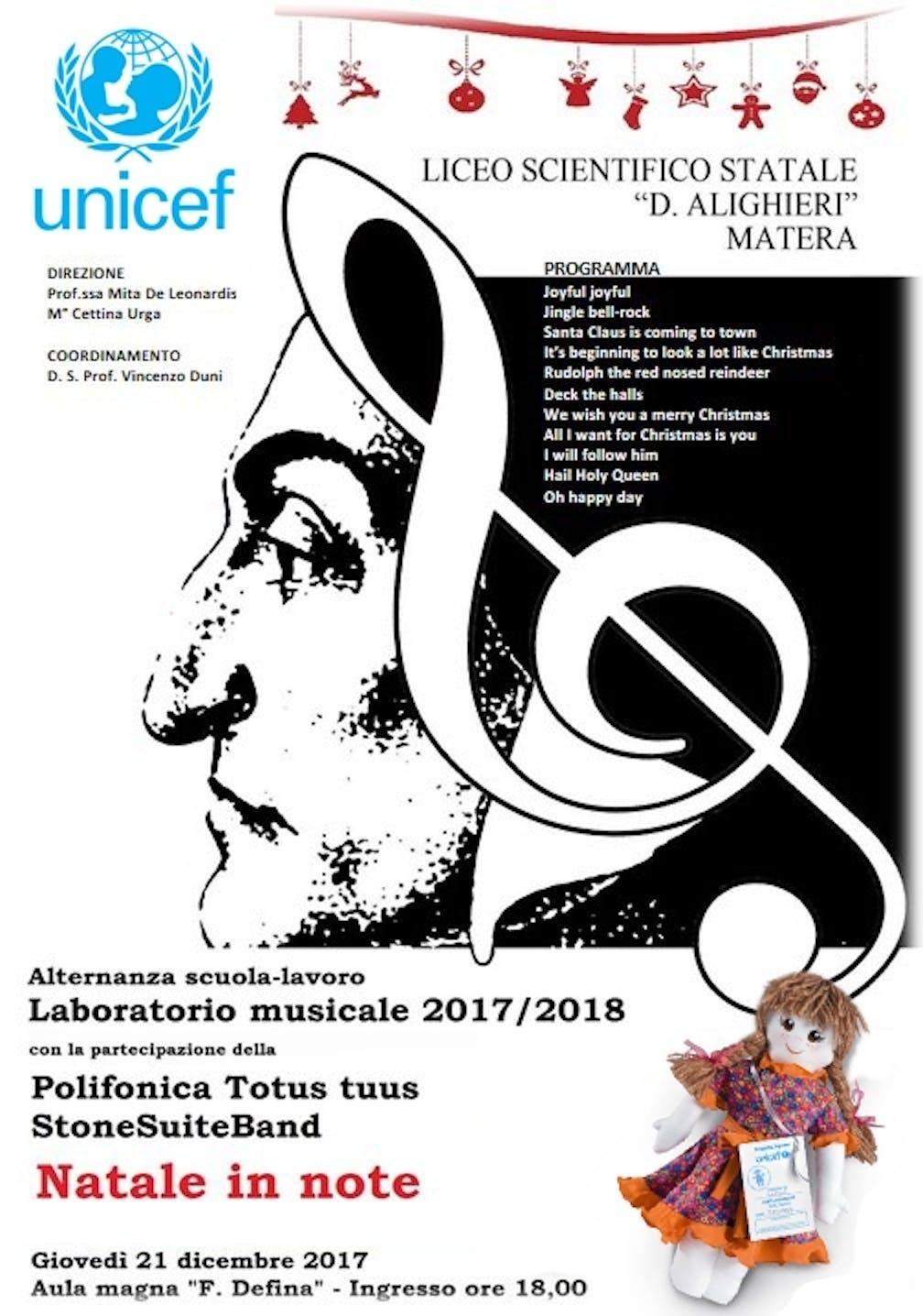 A Matera torna il concerto di Natale per UNICEF