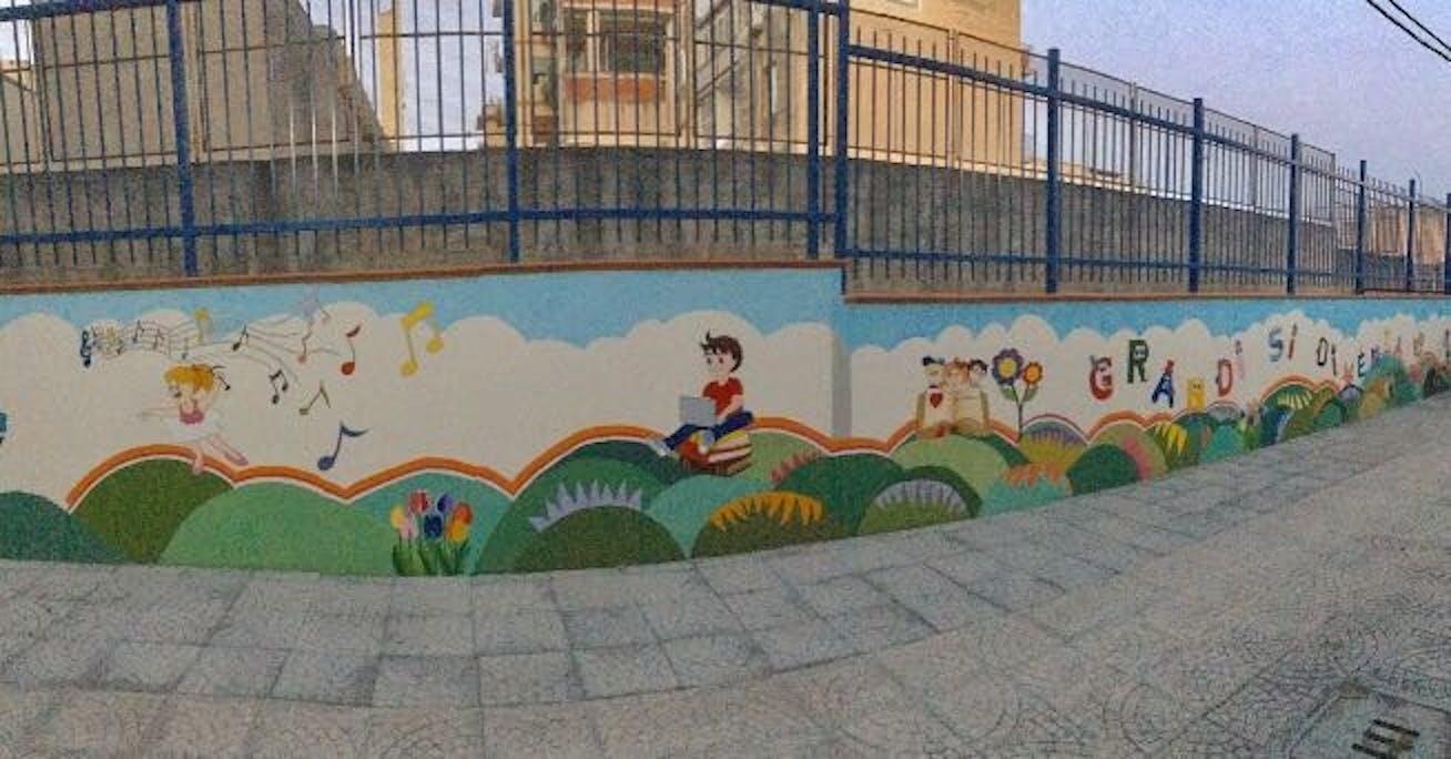 Il murale di Catania
