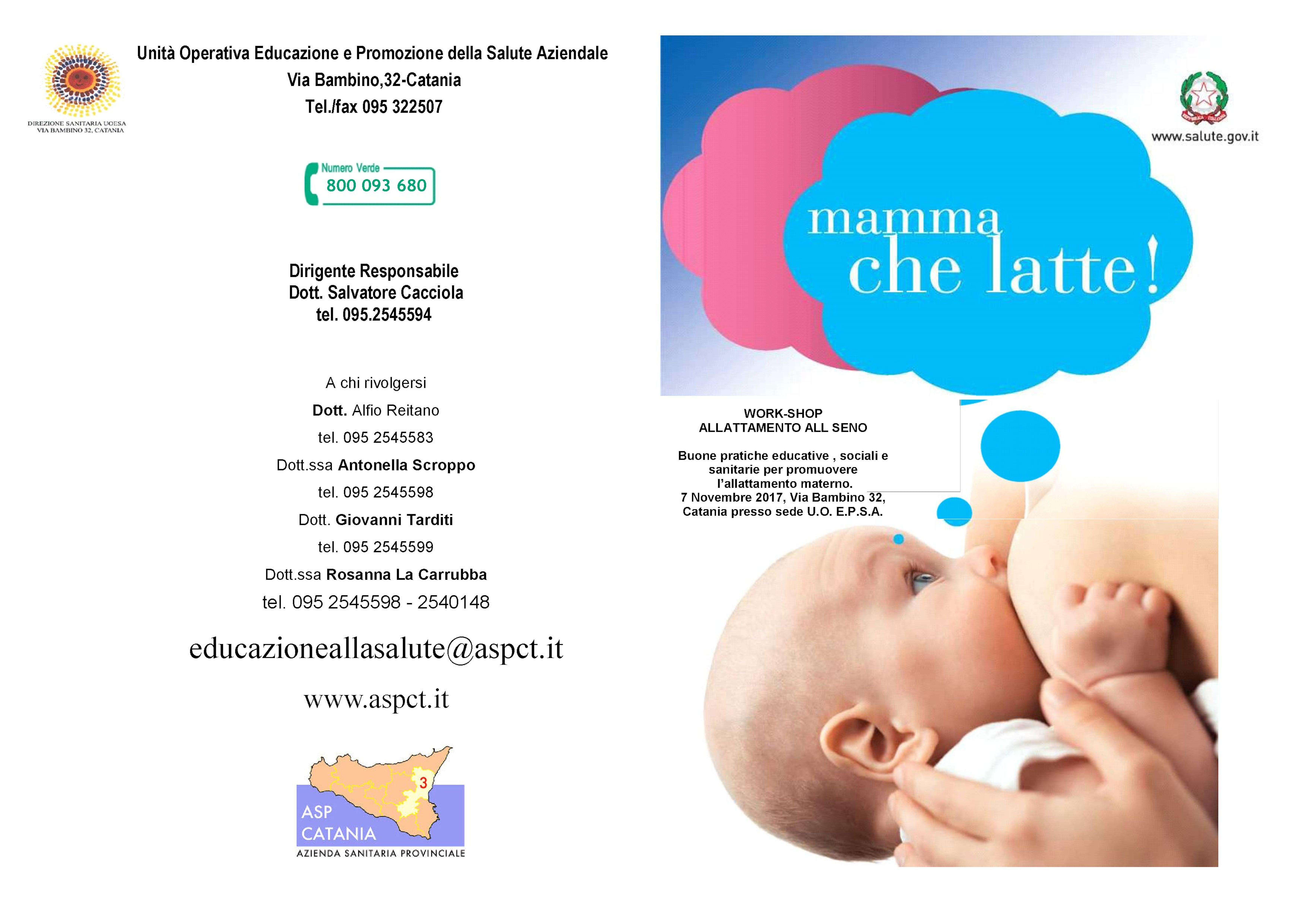 A Catania, workshop sull'allattamento materno